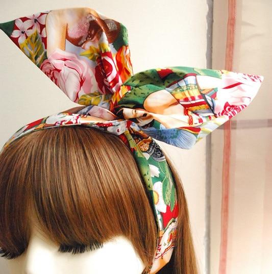 Vendimia 50 s Las Senoritas mexicano pinup rockabilly accesorios bandana  cactus diadema bandeau cheveux foulard cheveux en Las mujeres accesorios  para el ... 2bdda24d3c3