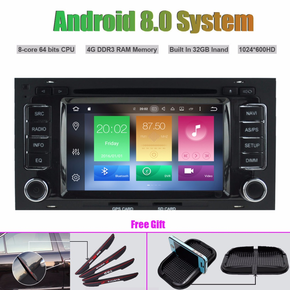 Octa Core Android 8.0 CAR DVD Player for Volkswagen VW TOUAREG 2004 2011 GPS navigation multimedia player
