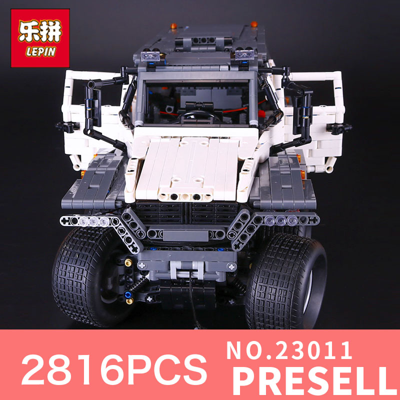 LEPIN 23011 Technic series 2816Pcs Off-road vehicle Model car Building blocks Bricks for Children Christmas gifts 1 18 scale red jeep wrangler willys alloy diecast model car off road vehicle model toys for children gifts collections