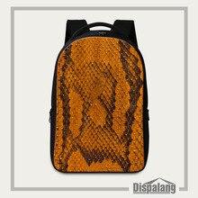 Dispalang Snakeskin Pattern Print Men Backpack Women Fashion Large School Bags For Teenage Students School Laptop