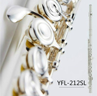 NEW Flute Musical Instrument Flute 16 Closed Holes E Key Flute Silver Plated music professional