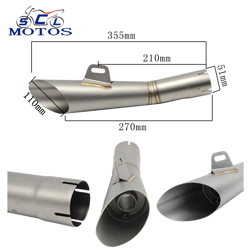 Sclmotos Motorcycle Exhaust Pipe Case for Yamaha YZF-R6 YZF R6 Motorcycle Muffler Escape Moto for YZF R6 with DB Killer