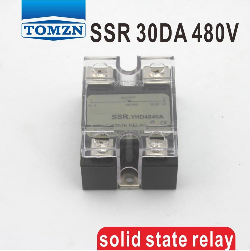 30DA SSR Control 3-32V DC output 24~480VAC High voltage single phase AC solid state relay 80da ssr control 3 32v dc output 24 480vac high voltage single phase ac solid state relay