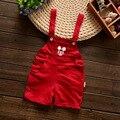 Baberos de bebé Niño Pantalones de los Guardapolvos de la Muchacha Plaid Shorts Monos Pantalones Casuales de La Moda Niños Trajes Niños Ropa de bebé Ropa Infantil