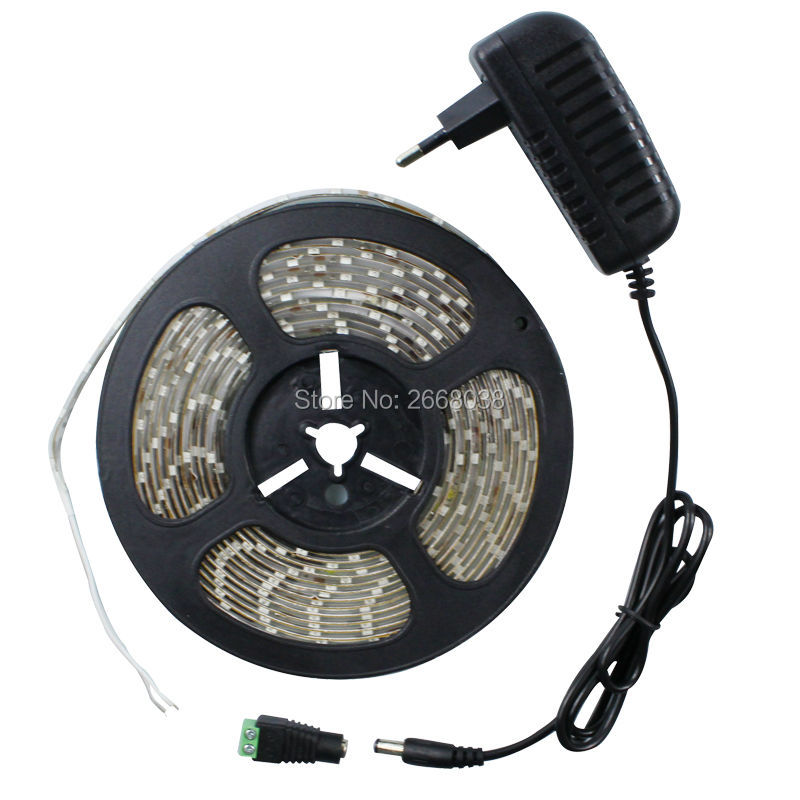 SMD-3528-LED-Strip-Light-12V-5M-300-Leds-Diode-Tape-with-2A-Power-Adapter-Supply