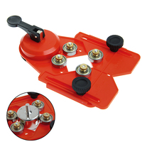Adjustable 4 83mm Glass Tile Hole Saw Drill Guide Locator Openings Sucker Base