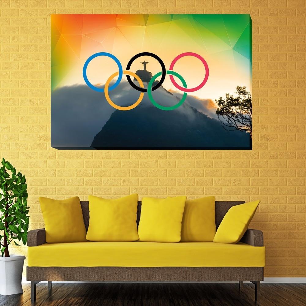 Unframed Brazil Olympics Monte Cristo 1 Piece Wall Painting Art ...