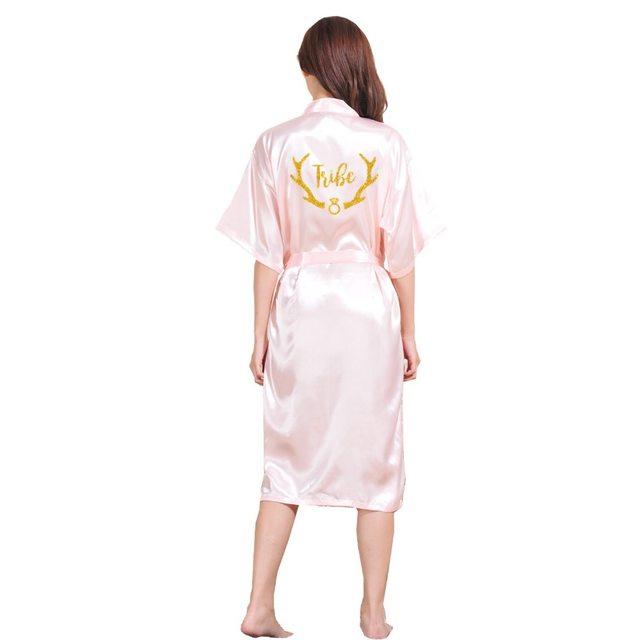 Online Shop DongKing Satin Faux Silk Wedding Bride Tribe Robes ...