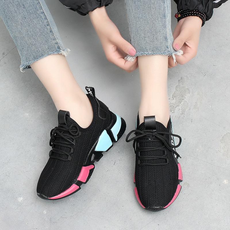Harajuku Étudiants Noir La Marée Chaussures Printemps Mode Casual Hauteur 2018 Automne Nouvelle Sauvages Et Femelle Augmenter qxZwY0A