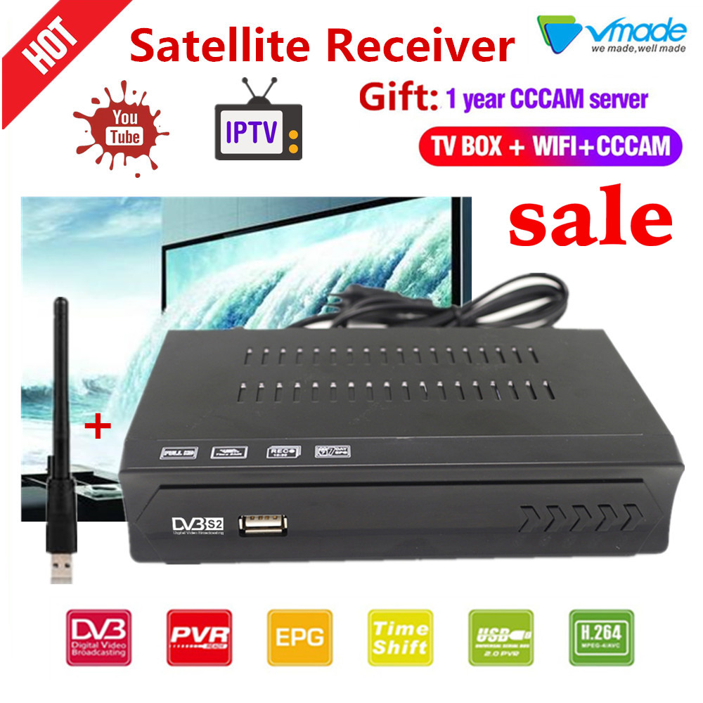 1 year Europe 7 CLine Server CCCAM DVB S2 TV BOX USB WiFi DVB S2 in