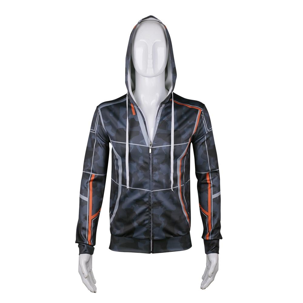 Hot Avengers Infinity War Iron Man Cosplay Costume Hoodie Tony Stark Jacket Sweatshirt Coat Halloween Party