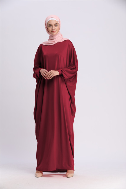 Casual Muslim Abaya Bat Sleeve 4
