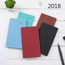 2018 A6 Notebook Щомісячний план Щомісячний план Щомісячний план шкіряний шкіряний щоденник Примітка Канцтовари Періодичне розкладу Travel Planbook HOT