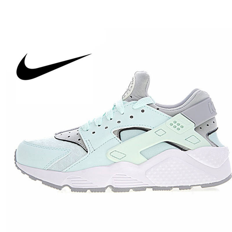 e6e8f6c61161 Nike Air Huarache Run Premium Women s Original Sneakers Women s Outdoor  Comfort Sport Running Shoes Green and Grey Color 634835-in Running Shoes  from Sports ...