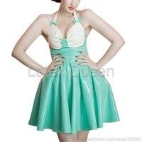 Новое поступление женский латексный пузырь платье