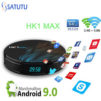 HK1 MAX Smart Tv Box Android 9.0 Set Top Box 4K Mini Tv Boxs 4gb 32gb 64gb Quad Core media player Support IPTV PK X96 MINI H96 M