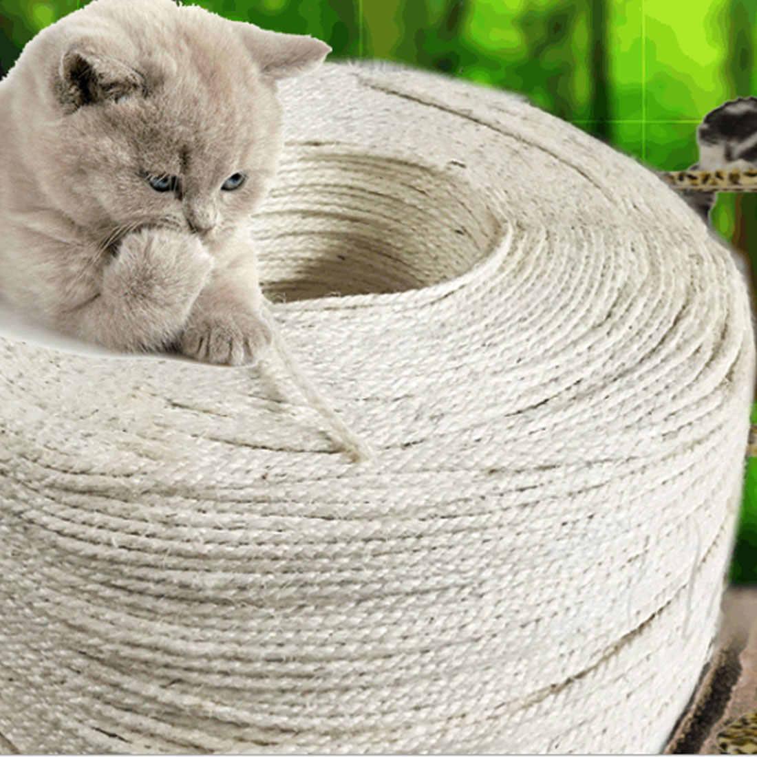 1M 3M 5M 10M koci plac zabaw linka sizalowa dla kotów drapanie zabawki kot wyostrzyć pazur Making biurko nogi wiążące liny