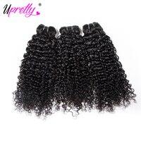 Upretty Włosy Peruwiański Kręcone Włosy 3 Wiązki Oferty 100% Remy Human Hair Extensions Tka 10-24 cal Tanie Wiązki Włosów dla sprzedaż