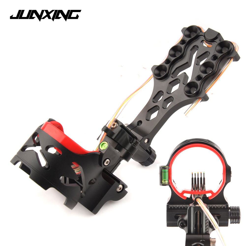 New Compound Bow Sight 5 Pin with Sight Light Adjustable Sight Green Bubble Level for Archery Hunting Shooting new arrival sight adjust tool for 7 62 sks design best quality front sight tool for hunting shooting