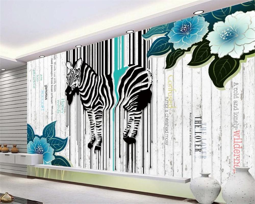 Beibehang 3d Wallpaper Living Room Bedroom Murals Color Zebra Stripes Lines Television Background Wall Wallpaper Papel De Parede