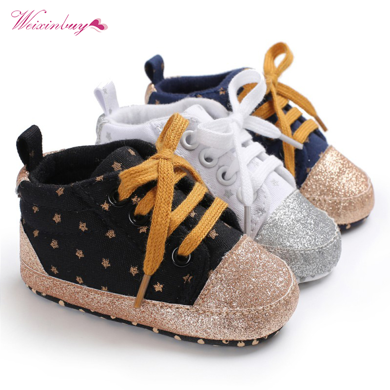 New Canvas Classic Sports Sneakers Newborn Baby Boys Shoes First Walkers Infant Toddler Soft Sole Anti-slip Baby Shoes