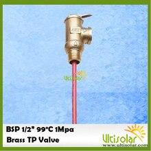 """1Mpa BSP G1/2 """"صمام تنفيس درجة الحرارة والضغط كصمام أمان TP لنظام سخانات المياه بالطاقة الشمسية 1Mpa 99 درجة مئوية"""