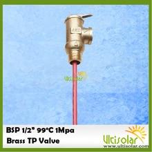 """1Mpa bsp G1/2 """"温度と圧力リリーフバルブ tp 安全弁太陽熱温水器システム 1Mpa 99 摂氏"""