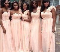 Simple Long Chiffon Blush Pink Bridesmaid Dresses 2018 A Line Vestido De Festa De Casamen Formal Party Prom Dresses