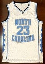 e8f0385d3 EJ Michael Jordan  23 University Of North Carolina Camisa De Basquete  Costurado Branco
