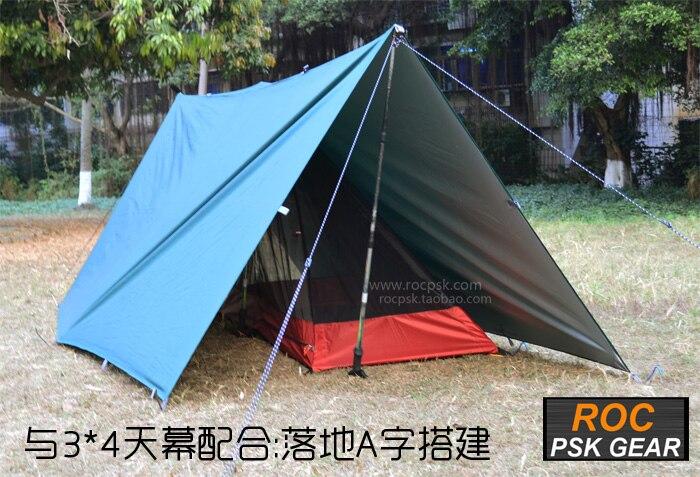 3F UL GEAR bâche ultralégère Camping en plein air survie abri soleil auvent revêtement argenté Pergola tente de plage étanche - 5