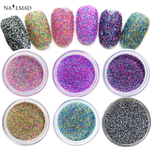 1 Box Nail Glitters Mix Candy Colored Glitter Dust Nail Art Glitter Powders Colors