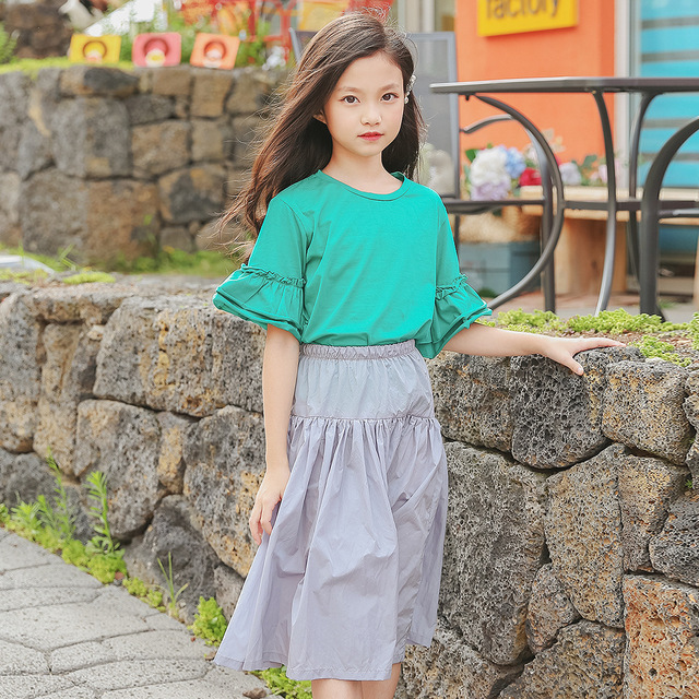 Preferred Girls Clothing Set 2018 New Child Clothing Teenager Kids Clothes  KT47