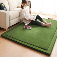 Hot Coral Fleece Crawling Mat Children's Tea Table Full Shop Manual Bedroom Living Room Carpet Mat