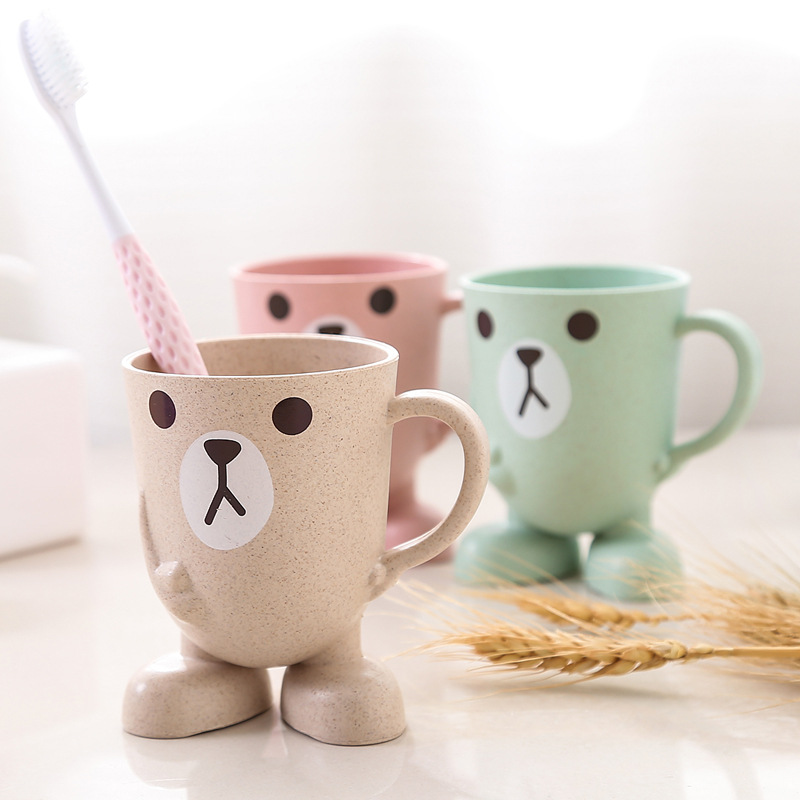 Lovely Cartoon Animal Toothbrush Cup Bathroom Tumbler Mouthwash Travel Toothbrush Holder Cup Home Bathroom Accessories Rat