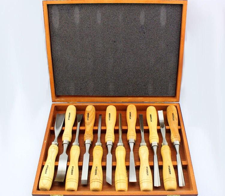 Kitchen Set Graver: Brand New Quality 12 PCS Graver Wooden Tools Graver Knife