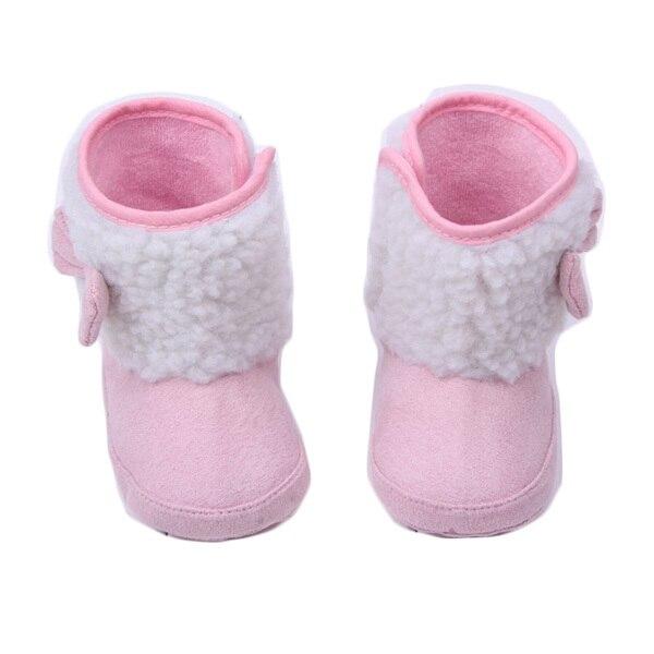 0-1 años de edad zapatos inferiores suaves zapatos de bebé del bowknot