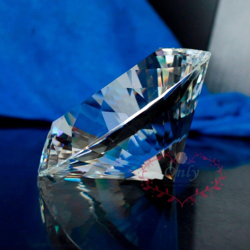 Doprava zdarma Perfektní 80mm čirý čistě křišťálový diamant drahokam těžítko šperky svatební dárky