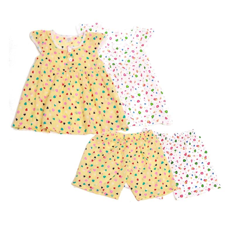 Комплекты одежды для девочек любовь печати без рукавов футболки + Шорты для женщин 2 шт. костюм принцессы для Детские костюмы Симпатичные дл...