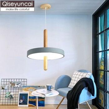 Araña De Madera Y Metal   Qisey Uncai Nordic Log Creativo Restaurante LED Candelabro Dormitorio Rueda De Estudio Simple De Una Sola Cabeza De Madera Lámparas De Arte Envío Gratis