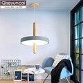 Qiseyuncai Nordic log kreative restaurant LED kronleuchter schlafzimmer studie rad einfache single head holz kunst lampen kostenloser versand|Pendelleuchten|Licht & Beleuchtung -