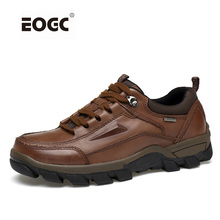Full grain leather men boots plus size vintage autumn ankle handmade shoes