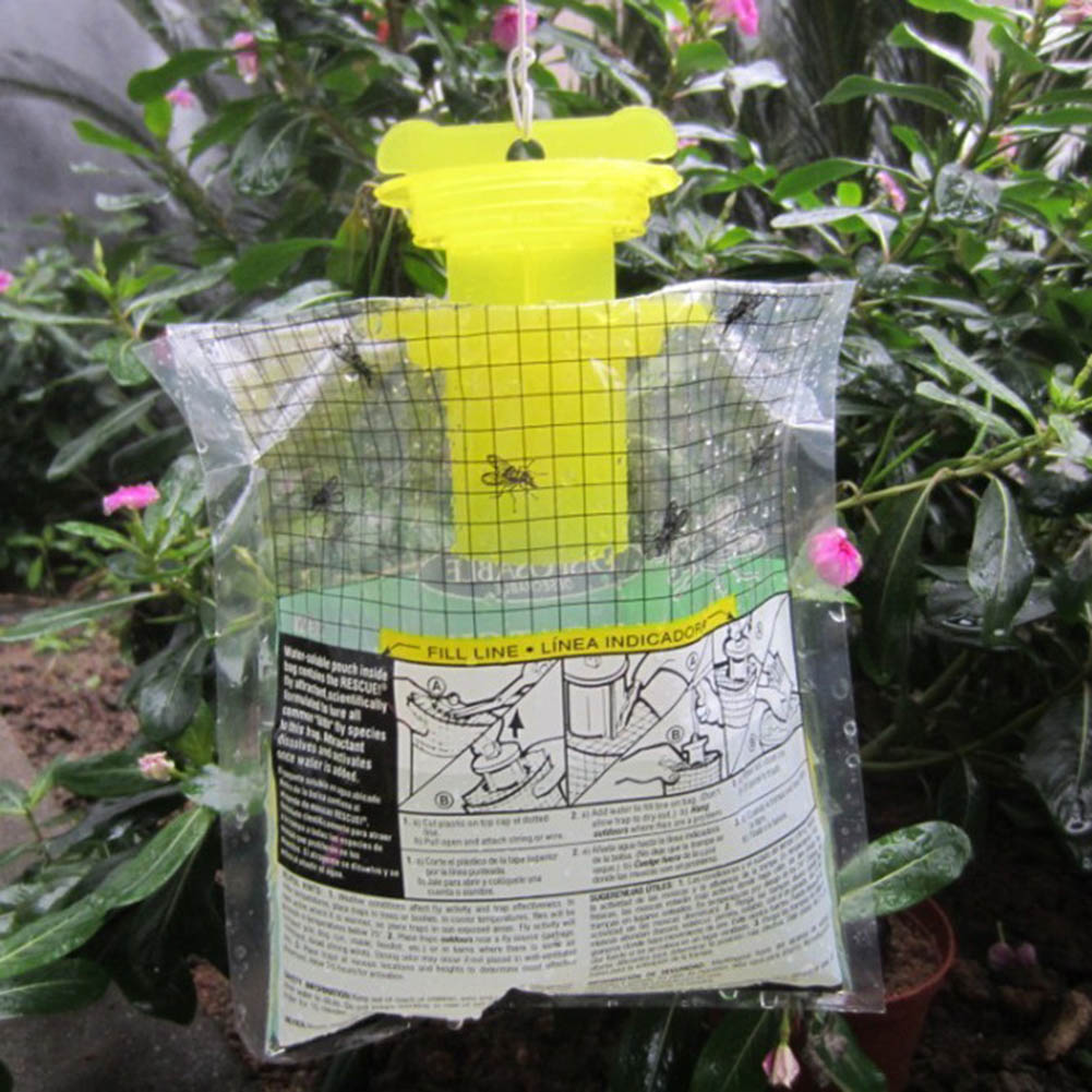 Newly Fly Trap Catcher Disposable Insect Hanging Style Pest Control High Efficiency For Outdoor in Traps from Home Garden