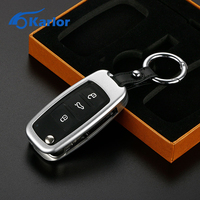 3 Button Remote Car Key Fob Case Aluminum Car Key Shell Keychain Key Holder For Volkswagen