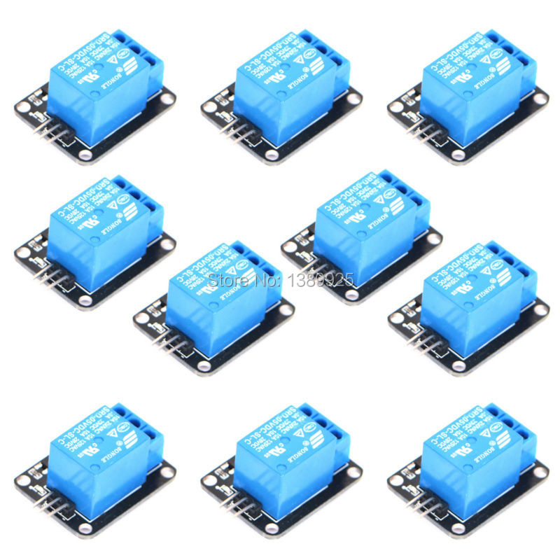 FREE SHIPPING Factory Selling KY-019 10pcs/lot 1 Channel 5V Relay Module for SCM Household Appliance Control