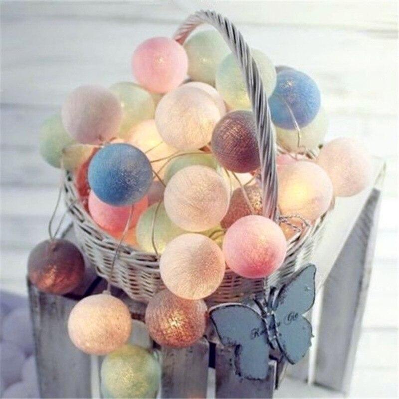 DCOO праздник <font><b>Lightting</b></font> 3 м СВЕТОДИОДНЫЙ Красочный Фея ватным тампоном гирлянда сад Спальня вечерние Свадебные украшения 20 светодиодный s огни Стр&#8230;