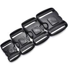500pcs/pack Plastic Dual Adjustable Side Release Buckles Molle Tatical Backpack Belt Bag Parts Strap Webbing