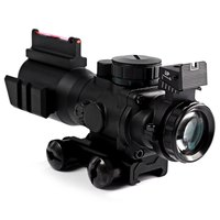 4 X 32 Compact Rifle Scope Red Green Dot Fiber Sight For 20MM Rail With Red