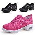 Más el tamaño 40,41 de La Moda de Las Mujeres Respirables Ocasionales Zapatos de Baile Sexy Zapatos de Malla de la Primavera Otoño Zapatos De Goma Pisos X1035 35