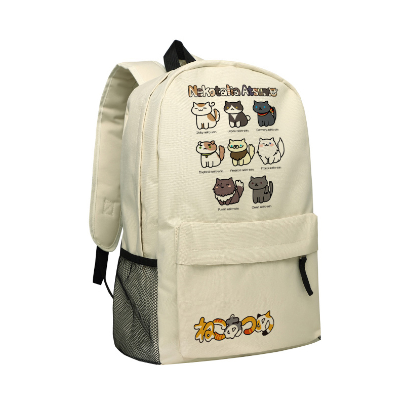 Zshop Children Backpack Neko Atsume Girls School Bags Kitty Cartoons Book Bag Mochila Kids Birthday Gifts Anime Backpacks
