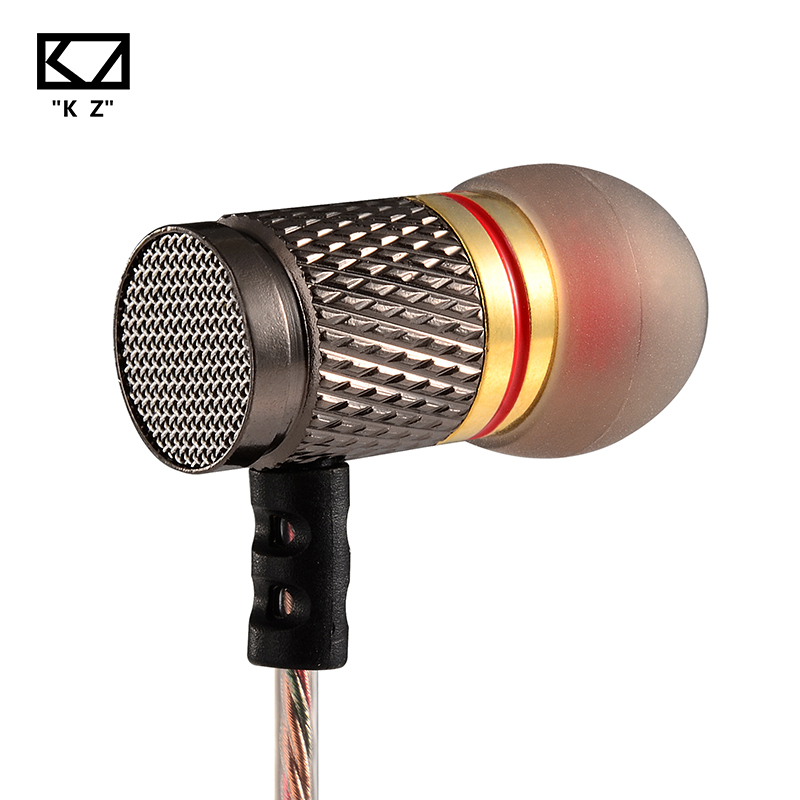 KZ ED Special 5PCS Edition Gold Plated Housing Earphone with Microphone 3.5mm HiFi In Ear Monitor Bass Earbuds free shipping ...